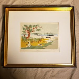 "Mid century Original Watercolor ""September"""